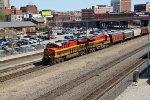 2 Southern belle Kcs gevo's lead a grain train Wb...