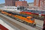 BNSF 6612 Meet's KCS 4775 at Union Station..