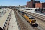 UP 6677 Leads a loaded coal train EB..