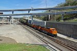 BNSF 8795 New Ace leads a loaded coal drag through the West Bottoms..