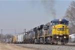CSXT 7345 On CSX Q 365 Eastbound At NS MP 29.0