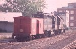 Loco & Caboose for trains 33/34 parked in Manassas