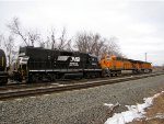 NS 5287; BNSF 5766 and 6242