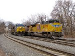 UP 8529 and CSX 624