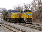 CSX 624 and UP 8529