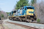 3 ex-CSX GE's round the curve with BFPO in tow.