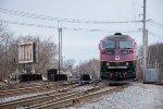 MBTA 2022 pushes its train towards Boston over Gorham St