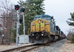 EDPO knocks down the automatic signal at East Street on the Lowell Branch
