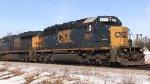 CSXT 8857 leads CP train 288