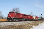 CP 9358 and an 8900 series power train 289 west