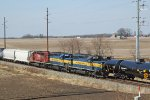 ICE 6439 leads CP 288, passing stopped westbound oil train 611
