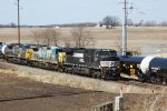 NS 9711 leads another round in the barrage of eastern visitors just past Dodge West