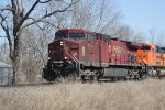 CP 9502 approaches Mohr Rd. leading WB ethanol MTs train 641