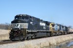 NS 8957 leads two CSX motors on CP 289
