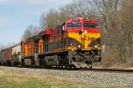 KCS 4797 and a BNSF traling unit make for a colorful EB manifest CP #280