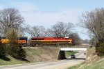 One final look at KCS 4797 and 280 as it glides above Highway 22