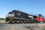 NS 9742 leads CP 801 about to cross Balzer Road