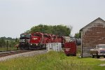 Westbound ethanol MTs train 633 overtakes the stopped 391