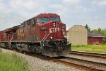 CP 9802 swings through leading eastbound oil train 602