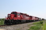 CP 2270 and two other Geeps lead a very short 483 train