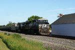 NS 8054 leads ethanol MTs train 681, first of four westbounds in 30 minutes