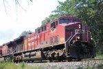 CP 8527 leads eastbound grain train 662