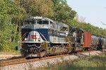 Wabash heritage unit NS 1070 approaches the Portage East switch