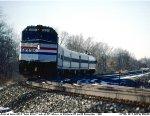 Amtrak in push mode