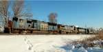 CSX Tied Down Empty Ethanol