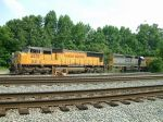 Train parked on the Maxwell Siding