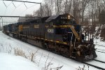HLCX SD40-2 6300 leads Q300-315