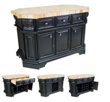 kitchen island black