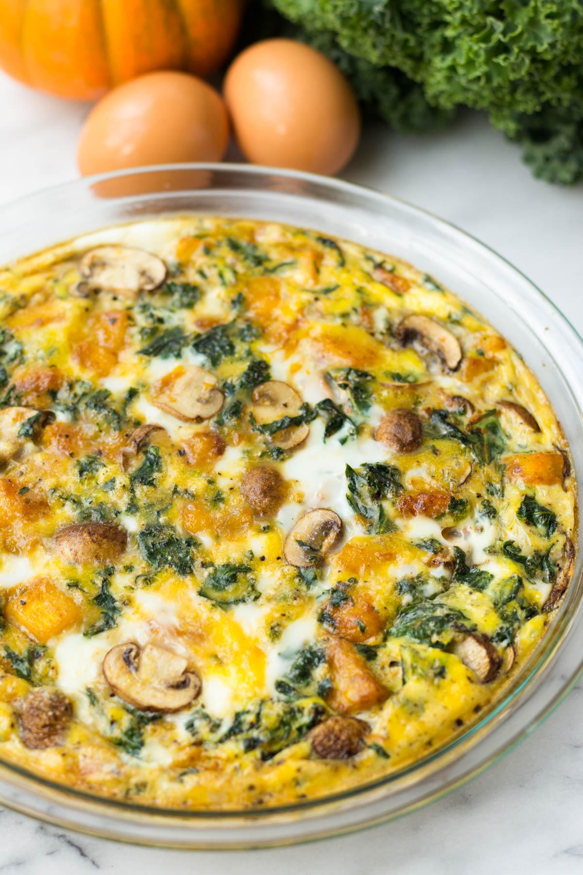 Vegetable & Pumpkin Quiche