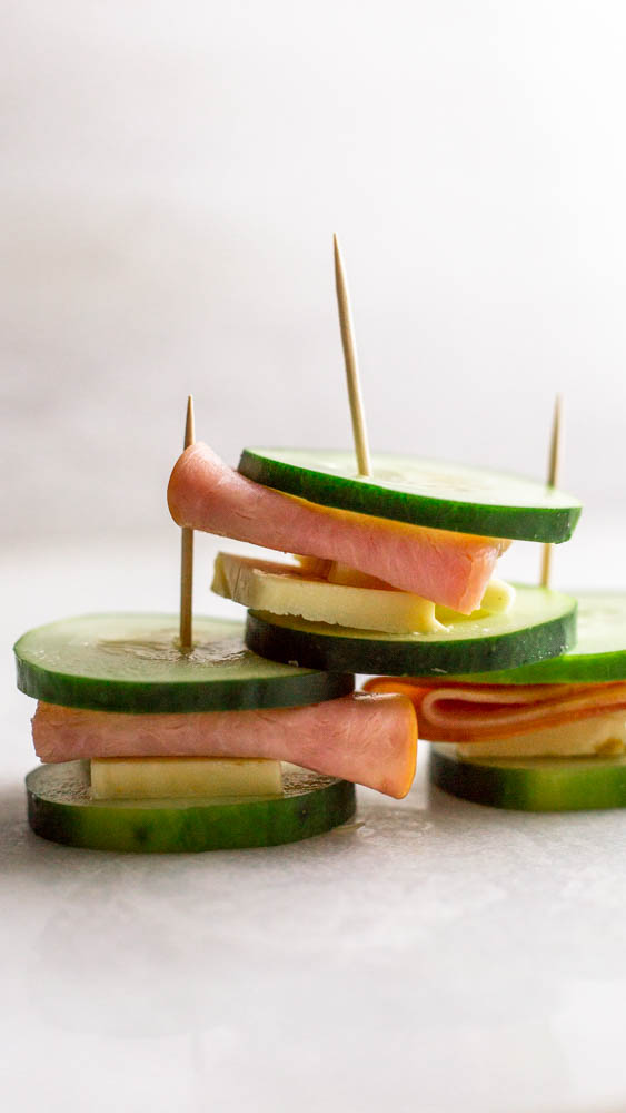 Cucumber and Ham Snack Sandwiches make a refreshing and protein-packed snack that will keep the hunger at bay for any busy bee.