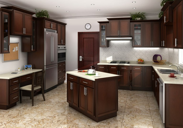 Superieur Cognac Shaker Kitchen Cabinets