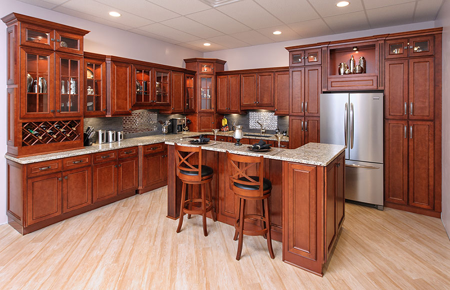 York Cherry Kitchen Cabinets & York Cherry Kitchen Cabinets - RTA Cabinet Store