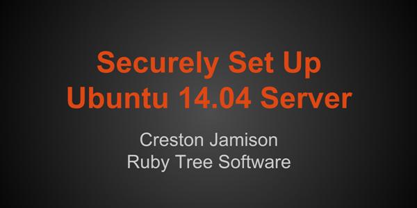 Securing ubuntu 1404 server