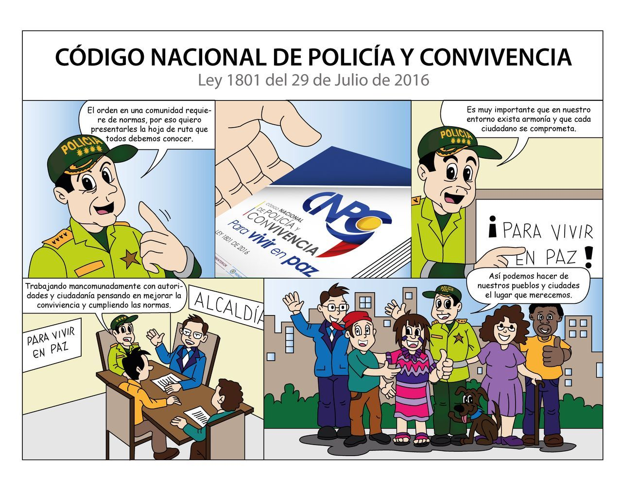 C digo nacional de polic a comenzar a regir en enero del for Codigo nuevo instagram