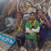 Grafiteando en las alturas, haciendo hip hop