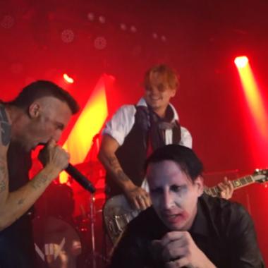 El día que Johnny Depp, Die Antwoord y Marilyn Manson tocaron juntos