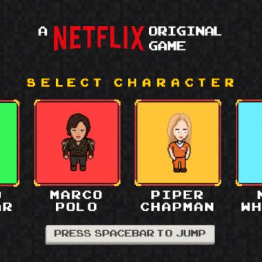 Netflix y su nuevo videojuego en 8 bits