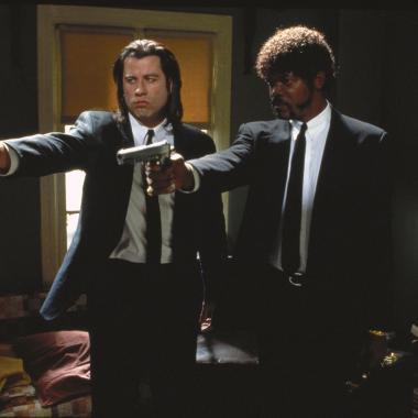 John Travolta y Samuel Jackson en Pulp Fiction. 1994.