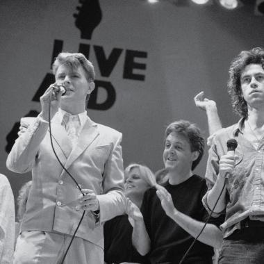Pete Townshend, David Bowie y Paul McCartney.