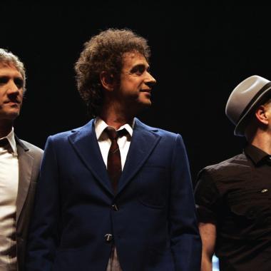 Charly Alberti, Gustavo Cerati y Zeta Bosio. Soda Stereo.