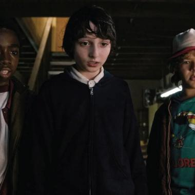 Lucas, Mike y Dustin, personajes de Stranger Things.