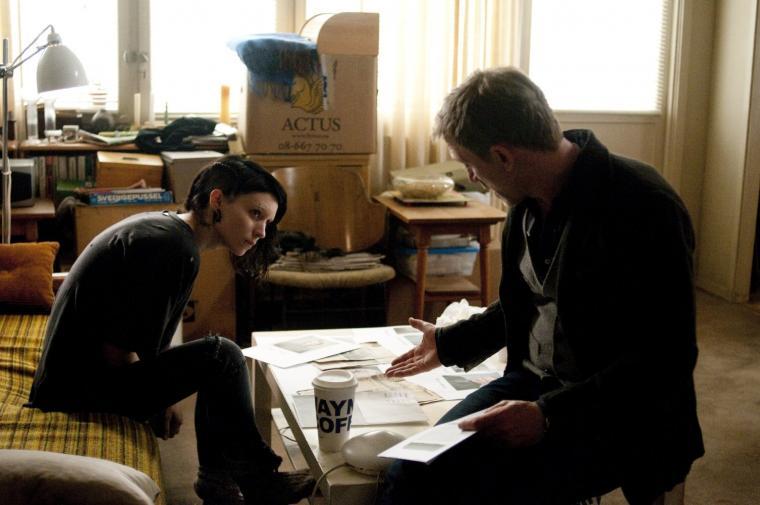 Rooney Mara y Daniel Craig  en 'La chica del dragón tatuado'  Foto: IMDb