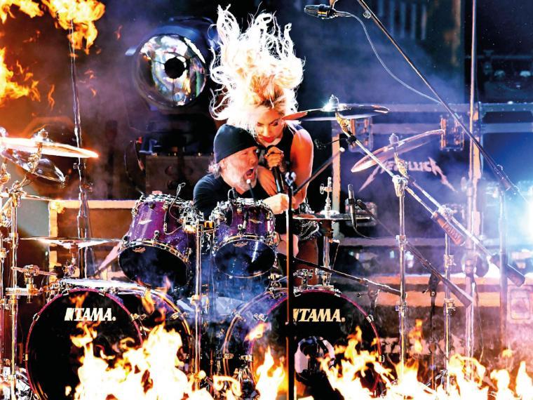 Lars Ulrich y Gaga. Foto tomada de Sopitas.com