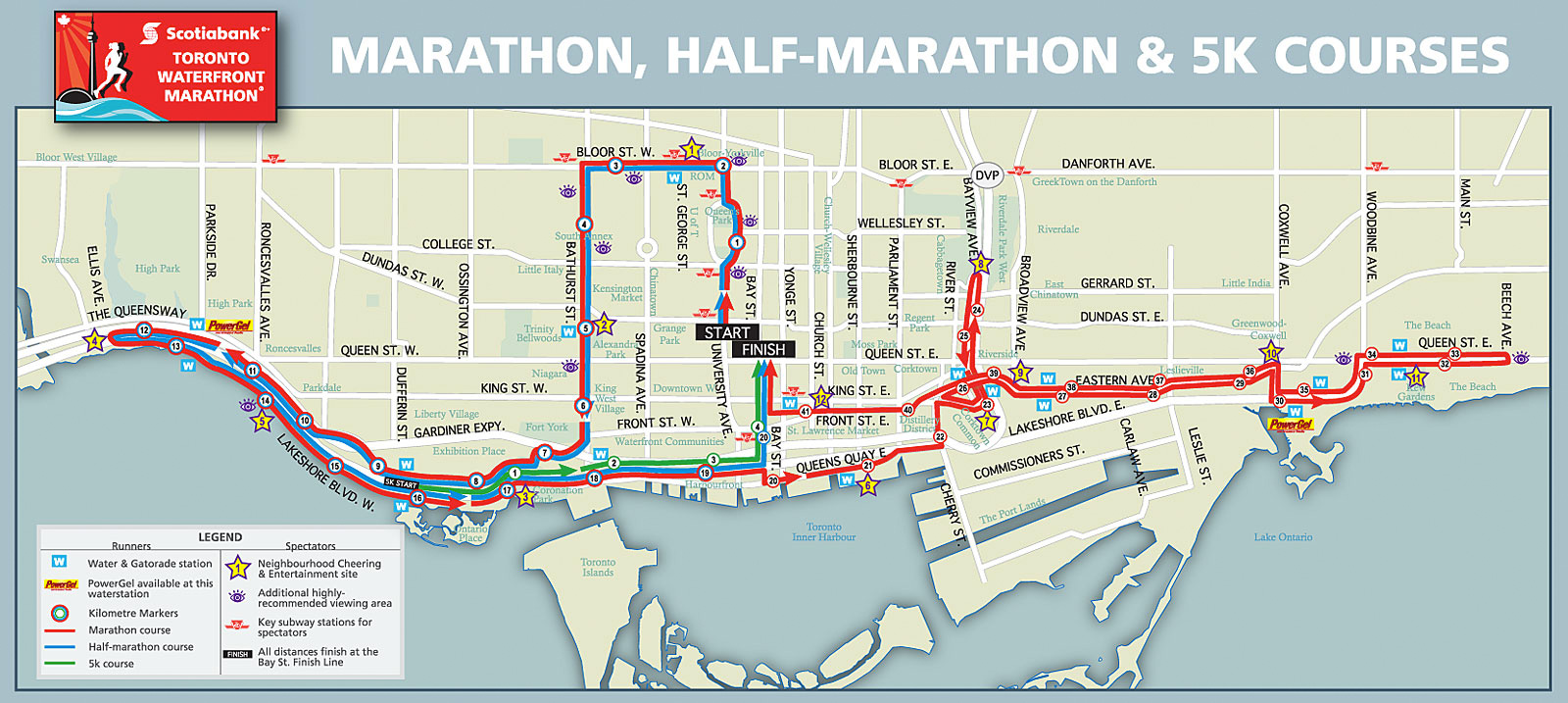 Toronto waterfront marathon course