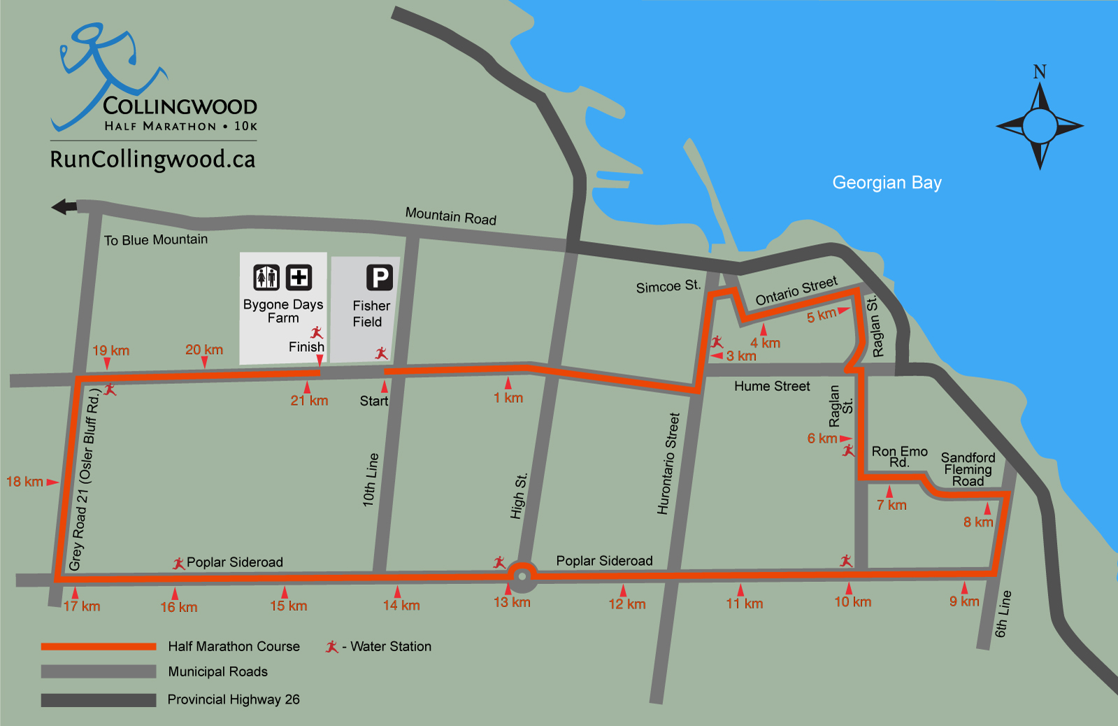 Collingwood half map