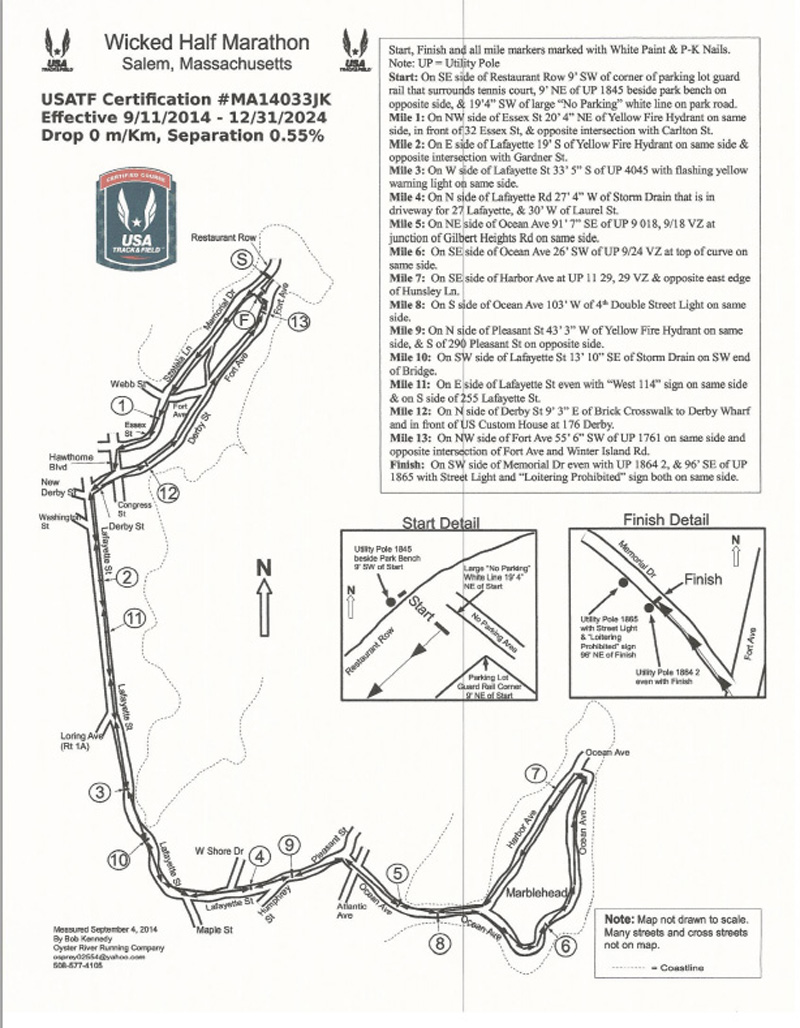 Wicked half marathon course map